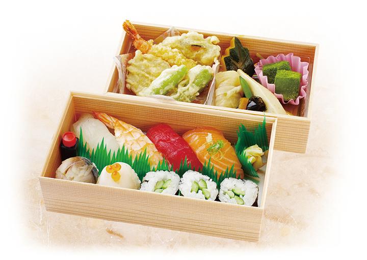 寿司弁当 お茶付き画像
