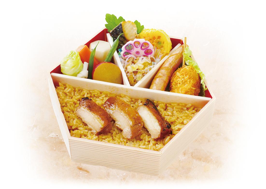 鶏肉弁当 お茶付き画像