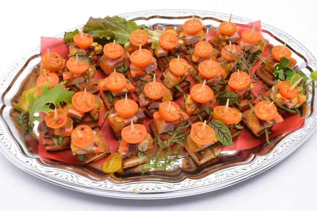 ピンチョス ジャンボンハムと野菜のテリーヌ画像