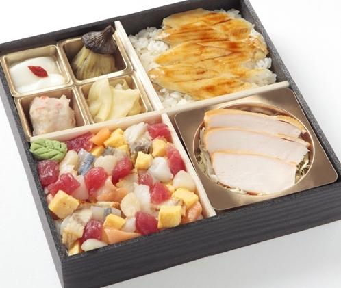 クリスタルちらしと穴子丼御膳画像