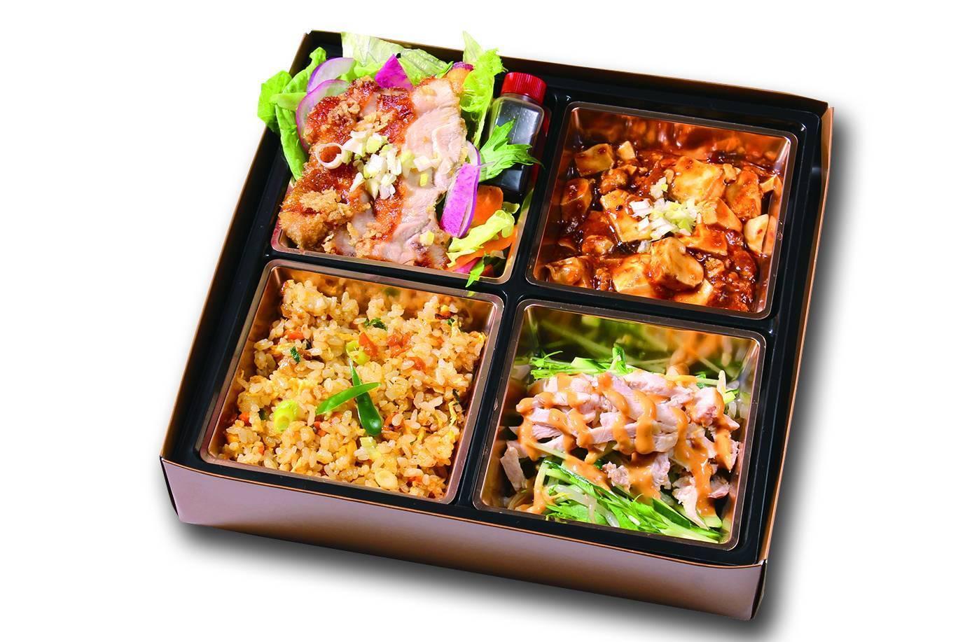 ユーリンチ&麻婆豆腐弁当 お茶付き画像