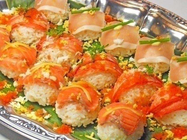 3種の手毬寿司 ~華*HANAプレート~画像