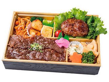 神戸牛100% 粗挽きハンバーグ&神戸牛焼肉重画像