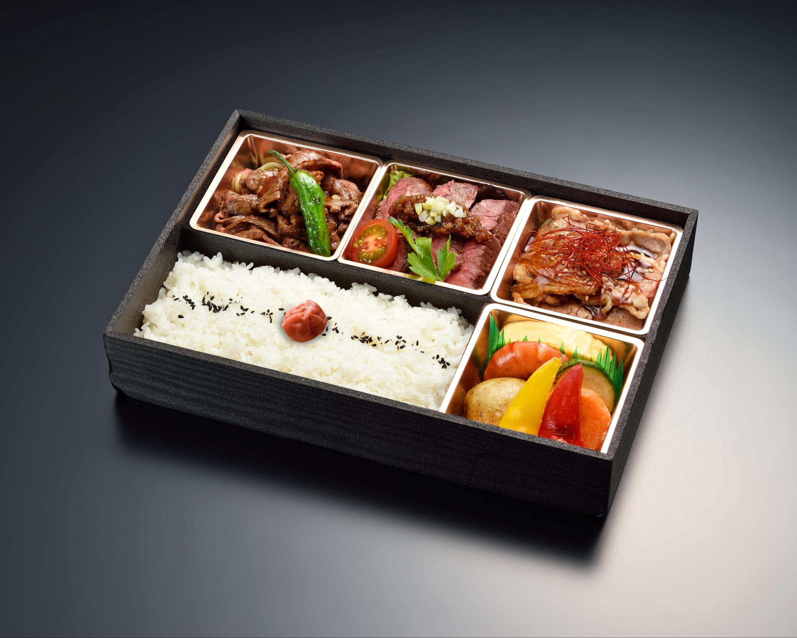 【贅沢】三種のお肉の彩り弁当画像